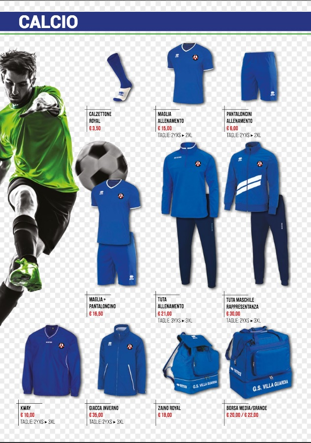 Catalogo GSV calcio