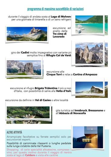 Vacanza in Alto Adige dal 24 agosto al 31 agosto 20172