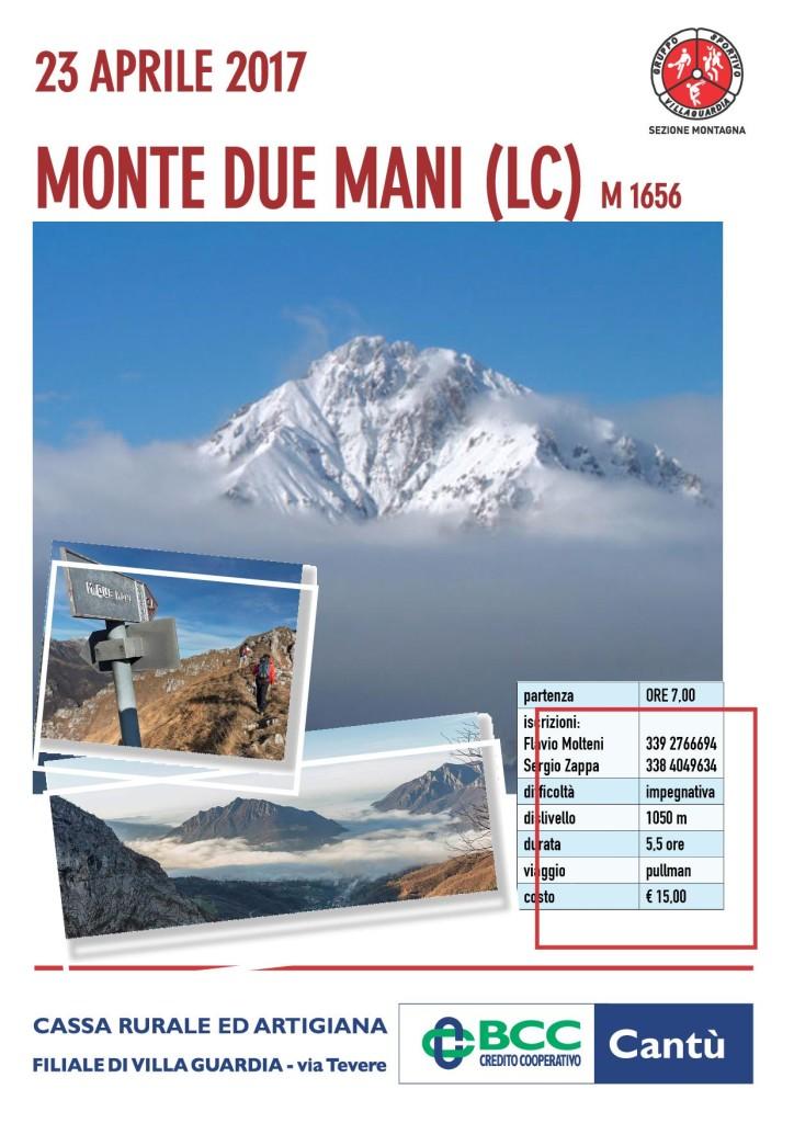 Escursione al Monte Due Mani del 23 aprile 2017