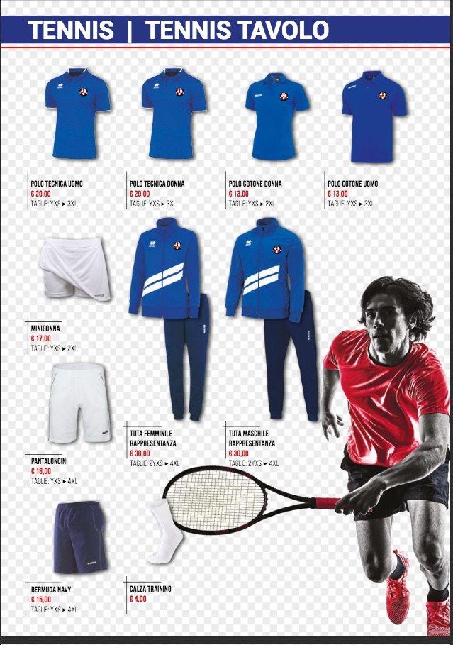 catalogo GSV tennis